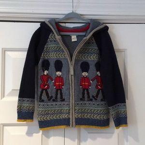 Monsoon Boden British  knitted Cardigan Boys 5-6